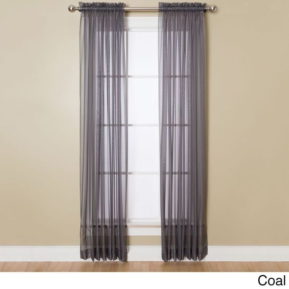 Miller Curtains Angelica 84-inch Sheer Curtain Panel with Rod ...