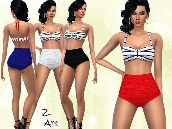 Sims 4 CC's - The Best: Bikini by Zuckerschnute20