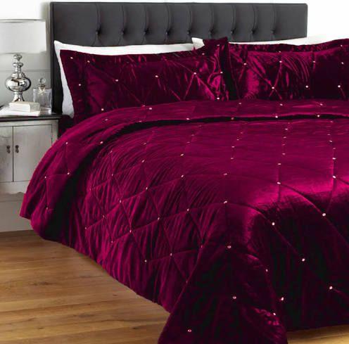 Magenta Bedding Velvet Duvet Bed, Magenta Bedding Sets