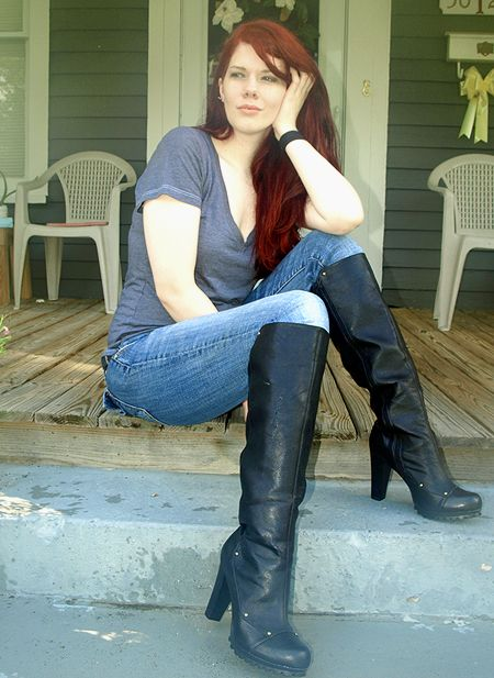 hot women in jeans and boots - photo #26