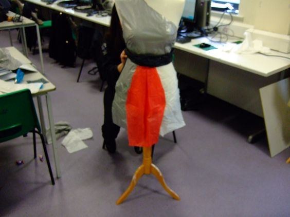 As we went on we added lantern shapes on the dress to give it a 3D look.