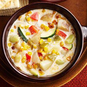 Three Sisters Corn and Chili Chowder: Corn, beans, and squash provide ...