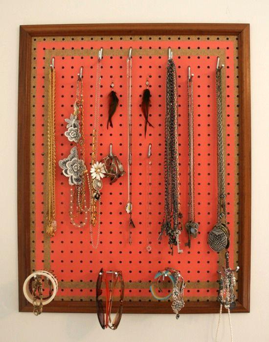 DIY Pegboard Jewelry Display