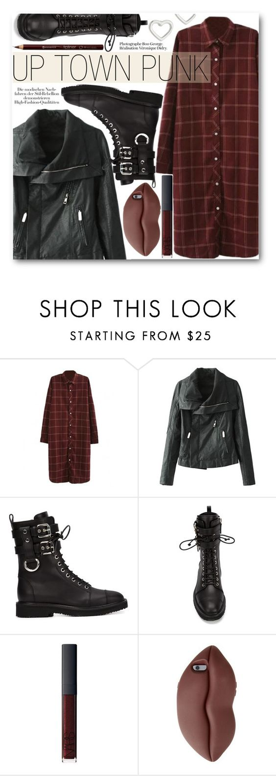 Up Town Punk by black-fashion83 on Polyvore featuring Giuseppe Zanotti, Marc by Marc Jacobs, STELLA McCARTNEY, NARS Cosmetics and stylemoi