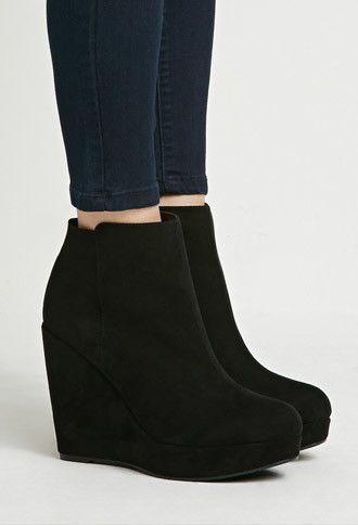 Faux Suede Wedge Booties | Forever 21 - 1000161784