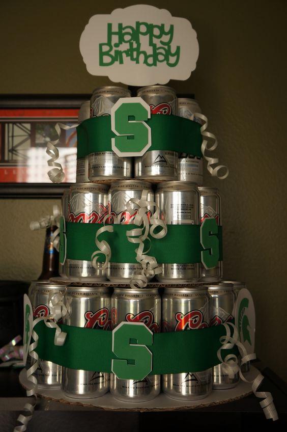 """Michigan State beer birthday """"cake"""""""