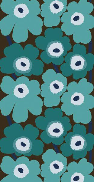 marimekko unikko green maija isola marimekko designer isola pinterest turquoise. Black Bedroom Furniture Sets. Home Design Ideas