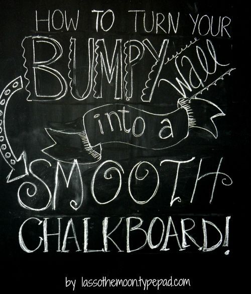 Chalkboard wall how to by lasso the moon home for Chalkboard paint surface ideas