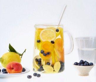 Recette eau détox anti-âge