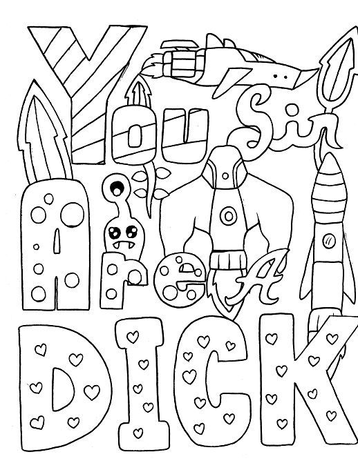 Robot Adult Coloring Page Swear 14 Free Printable Coloring