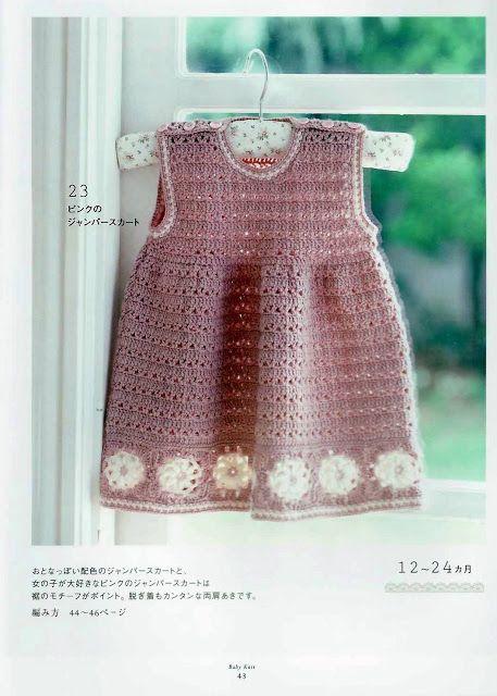 Crochê Tricô: Vestido Infantil em Crochê