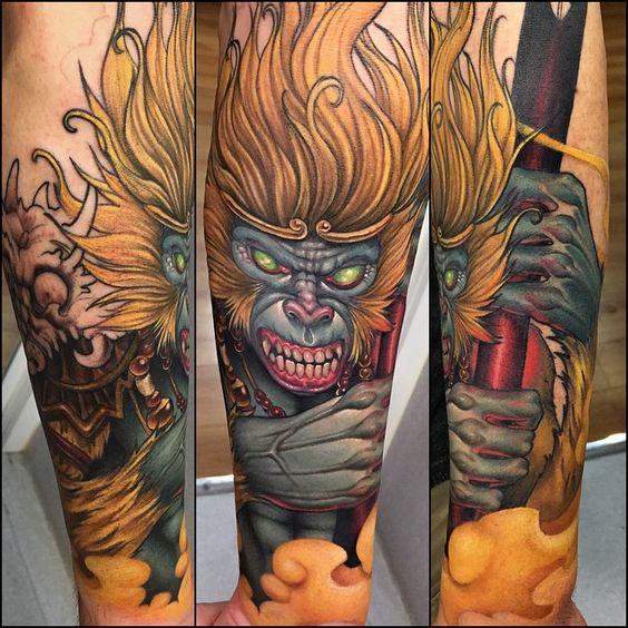 Hanuman Sleeve Tattoo Hanuman, Barcelona and...