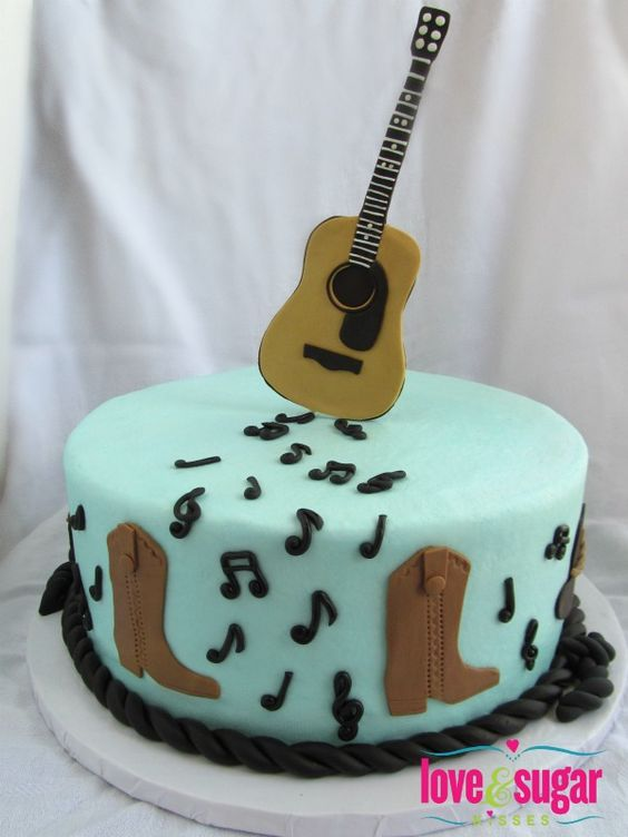 The cowboy, Birthdays and Music cakes on Pinterest