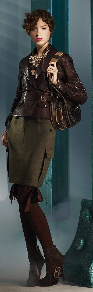 Christian Dior. The jacket is amazing (and I'm getting this great modern Peggy Carter vibe, gotta dig it.)