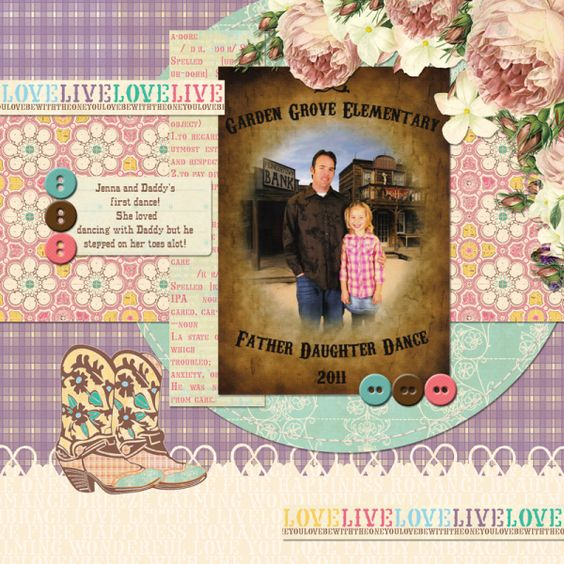 Digital layout using  Webster's Pages new line *Western Romance*