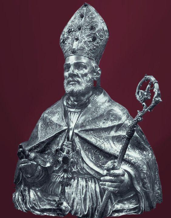Argentieree napoletano Busto di S. Pardo vescovo
