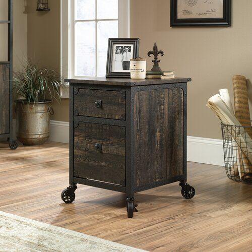Rushton 2 Drawer Mobile Vertical Filing Cabinet Filing Cabinet Office Storage Furniture Sauder