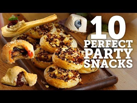 1 10 Snacks For Any Party Vegan Bosh Youtube Vegan Party Food Food Vegan Appetizers