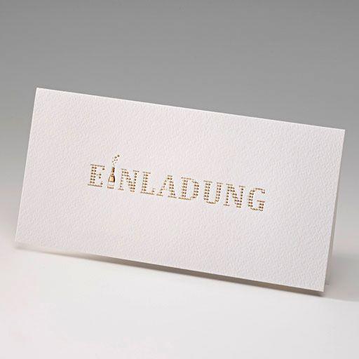 Einladungen Im Edlen Design   Gehämmerter Premiumkarton U0026 Edle  Goldfolienprägung Zum Sonderpreis!