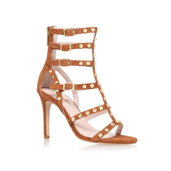 gloss tan mid heel sandals from Carvela Kurt Geiger
