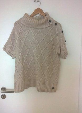 Kaufe meinen Artikel bei #Kleiderkreisel http://www.kleiderkreisel.de/damenmode/strickpullover/138205390-beigefarbener-strickpullover-kurzarmlig