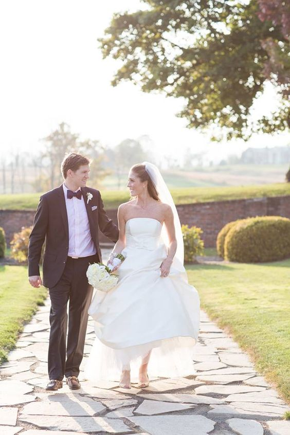 "#AmsaleBride Katherine wearing our ""Clara"" gown. #RealWedding"