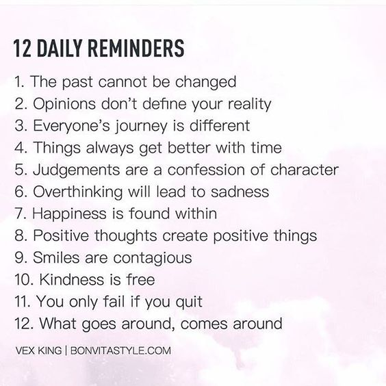 12 Daily Reminders happy life happiness positive emotions lifestyle instagram mental health instagram pictures confidence self improvement self care self help emotional health mantras