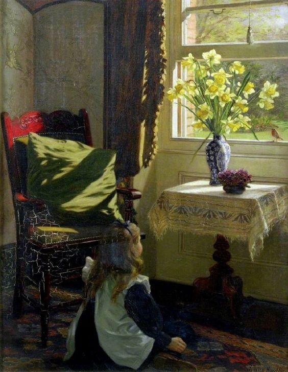 Jessica Hayllar (1858-1940).  The Robin.jpg