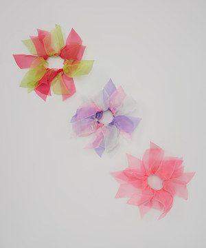 Loving this Picki Nicki Hair Bowtique Pink, Purple & Green Chiffon hair Tie Set on #zulily! #zulilyfinds