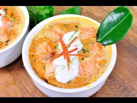 ห่อหมกปลาแซลมอน Thai Steamed Curried Salmon