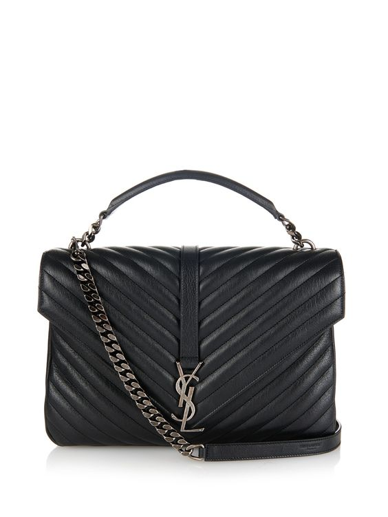 Monogram quilted-leather shoulder bag | Saint Laurent | MATCHESFASHION.COM UK