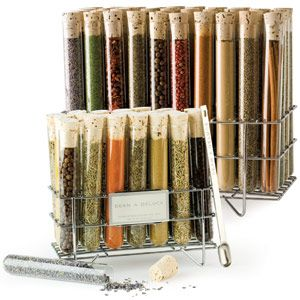 Dean and Deluca's stylish spice racks showcase the art and the science behind perfectly seasoned dishes.