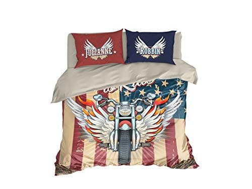 Personalized Motorcycle Bedding Born To Ride Duvet Cover Set Harley Davidson Duvet Cover 162 Full Set 83 Duvet Cover Sets Harley Davidson Bed