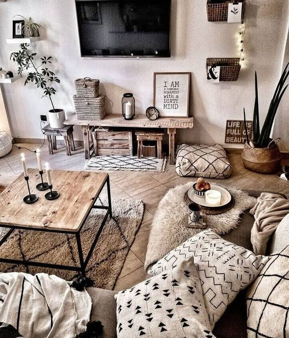 8 Cozy And Rustic Living Room Ideas For Spring Daily Dream Decor Bloglovin Apartment Living Room Design Living Room Decor Modern Rustic Living Room
