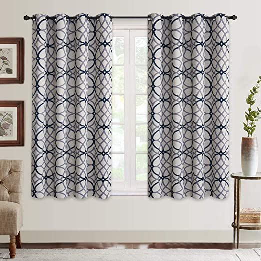 Curtains For Living Room Geometric Pattern Room Darkening Blackout Curtains For Bedroom The Curtains Geometric Pattern Insulated Drapes Geometric Pattern Room