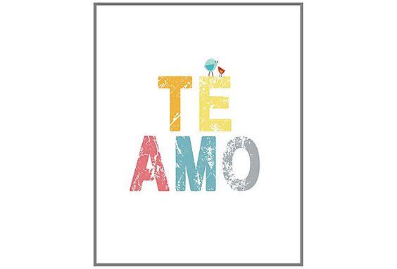 """""""Te Amo"""" sign"""