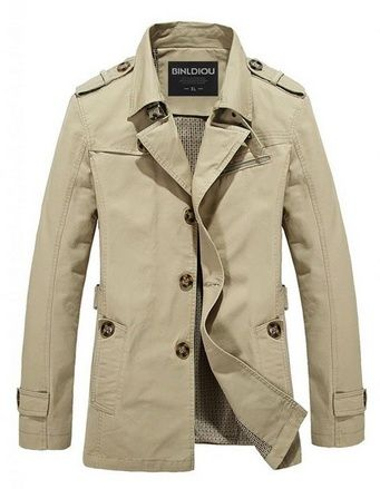 awesome Cloudy Arch Men&39s Casual Jacket Light Trench Coat - For