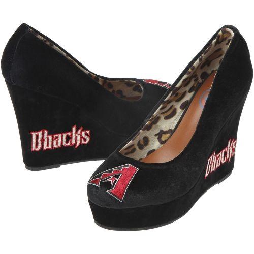 MLB Cuce Shoes Arizona Diamondbacks Women's Groupie II Wedge Shoes - Black