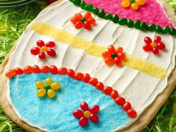 Cookie pizza, Easter eggs and Easter on Pinterest