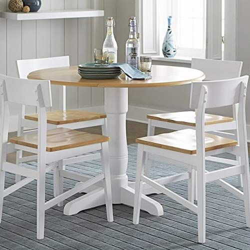 Wood Dining Table With Butterfly Leaf Pedestal Round Dining