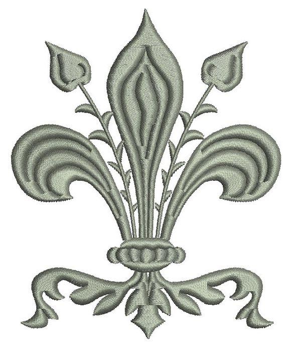 Fleur de lis graphics Embroidery Designs
