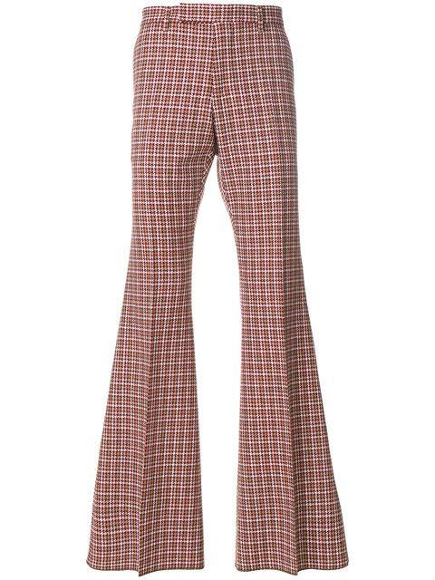 Comprar Gucci Pantalones Acampanados A Cuadros Ropa De Moda Hombre Pantalones De Vestir Pantalones Acampanados