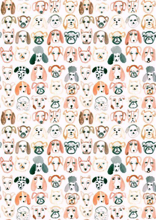Imagem De Dog Background And Wallpaper Pattern Art Pattern Illustration Illustration Art