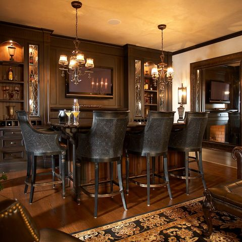Basement Bar Classy Old School Look For The Home