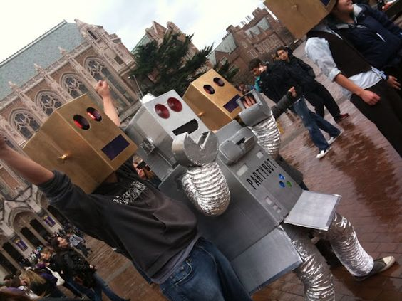 Flash Mob on Red Square Feb. 10, 2012 – Robots