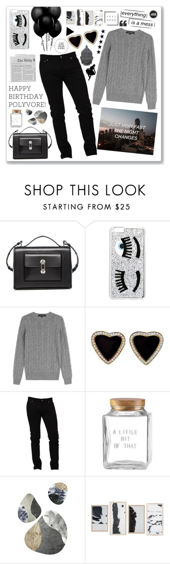 """[.1.198.] They call me crybaby, crybaby, but I don't f*cking care..."" by imlola ❤ liked on Polyvore featuring Balenciaga, Chiara Ferragni, Ralph Lauren Black Label, Dolce&Gabbana, Kate Spade and Three Hands"