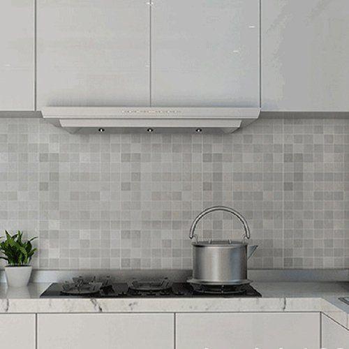White Adhesive Kitchen Tiles
