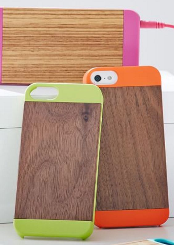 iPhone 5/5s Wood and Pop Color Phone Casees