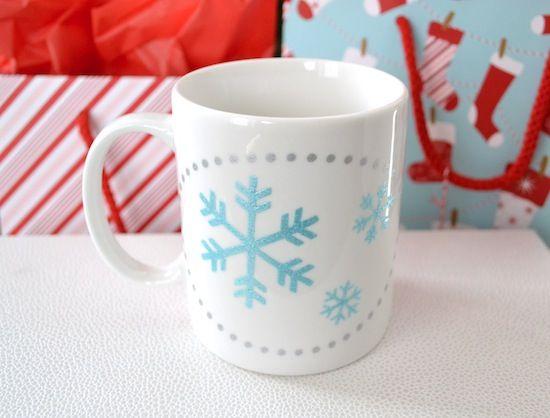 DIY Handpainted Mug from Mod Podge Rocks #HolidayHandmade #GiftIdea #SweetRoseStudio