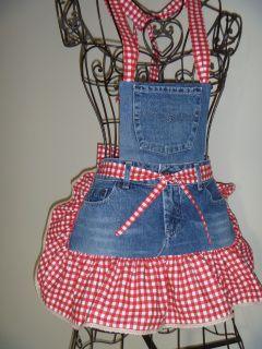 Denim Aprons - Redneck Girl Aprons, L.L.C. inspiration for old jean usage